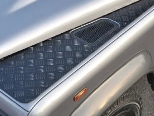 Black 3mm Chequer Plate by DDS