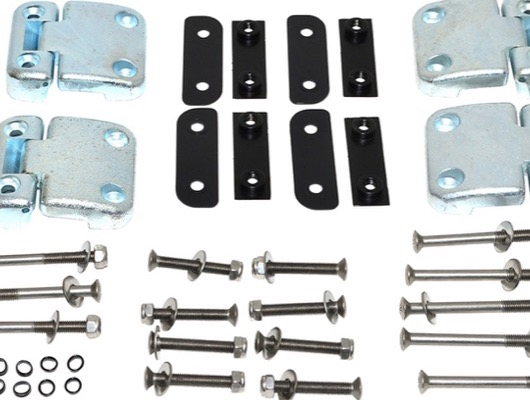 Door Hinges with Kits and Stainless Steel Bolt Kits