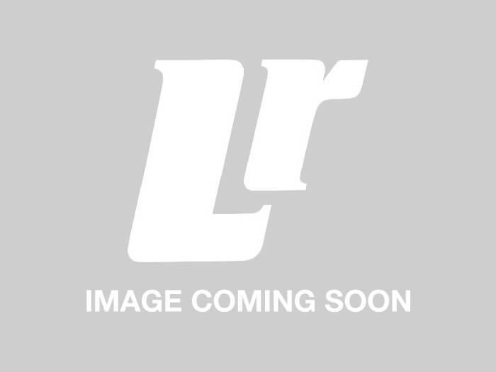 BTR2982LVA - Genuine Land Rover DEFENDER Badge - For Rear Body on Land Rover Defender 110 - Light Grey On Clear Background