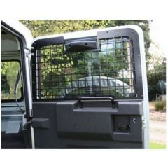 4-WGR/02-NC - Mantec Interior Window Guards for Defender - 3 Piece Kit In Black - Up to 2002 (No Hole for High Level Brake Lamp)
