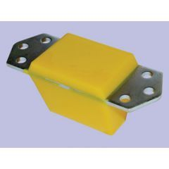 ANR4189PYE-YELLOW - Britpart Polyurethane Rear Extended Height Bump Stop in Yellow - For Defender and Discovery 1