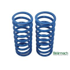 BA2101 - Front Defender Springs - Bearmach - 45mm Lift with 380lbs Rating - Top Quality Pair of Heavy Duty Bearmach Blue Springs
