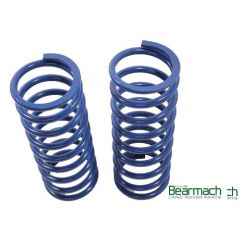 BA2107 - Rear Range Rover Classic Springs - Bearmach - 20mm Lift with 240lbs Rating - Pair Heavy Duty Blue Bearmach Springs