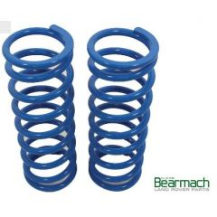 BA2232 - Rear Discovery 2 Springs - Bearmach - 45mm Lift with 295lbs Rating - Pair Heavy Duty Bearmach Blue Springs