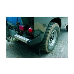 BA290G - Bumperettes - Pair Of Galvanised With Cheuqer Top - For Defender and Series