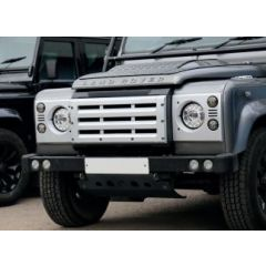 BA9453 - Defender XS Front Grille, Headlamp Surrounds, Wing Top and Side Vents in Silver Standard Grille - Fits All Defenders from 1994