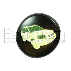 "BFA7004HL - Freelander 1 Wheel Cover (16"") With Land Rover Freelander Picture In Hard Plastic"