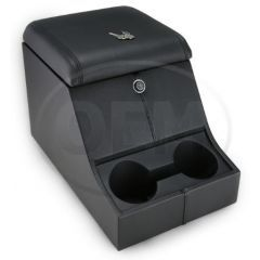 OEM Land Rover Defender High Top Cubby Box - Comes in with Ottawa Leather Lid Complete with Lock and Two Drinks Holders
