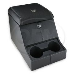 OEM Land Rover Defender High Top Cubby Box - Comes in with XS Half Leather Lid Complete with Lock and Two Drinks Holders