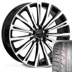 CHAYTON-BFP-TYRE - Wheel and Tyre - Hakwe Chayton Alloy Wheel in Java Black with Full Polish