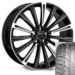CHAYTON-BHS-TYRE - Wheel and Tyre - Hakwe Chayton Alloy Wheel in Java Black with Highlighted Spokes
