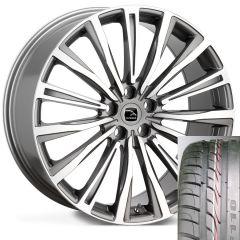 CHAYTON-GMF-TYRE - Wheel and Tyre - Hakwe Chayton Alloy Wheel in Gunmetal Grey with Full Polish