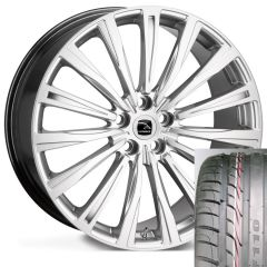 CHAYTON-SIL-TYRE - Wheel and Tyre - Hakwe Chayton Alloy Wheel in Highly Polished Silver