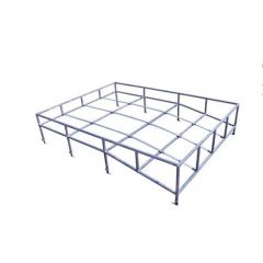 DA1092 - Land Rover Defender Roof Rack in Galvanised with Contoured Floor - Comes as a Flat Pack for either Series Long Wheel Base or Defender 110