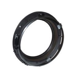"""DA1158 - Headlamp Fitting Kit and Ring - 8""""  With Black Ring - For all Defender, Series and Range Rover Classic"""