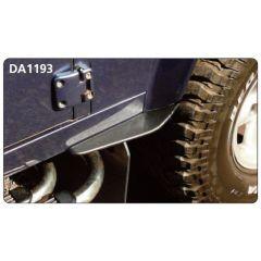 DA1193 - Dirt D-Fender - Front Mud Splash Guard for Land Rover Defender - Pair For Rear of Defender Front Wheel - Fits 90 / 110 / 130