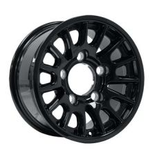 DA1350 - Defender Bowler Wheel in Black - Lightweight, High-Strength - 16 x 8 - Will Fit Defender, Discovery 1 and Range Rover Classic