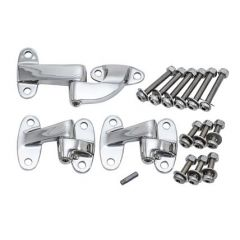 DA1392 -  Stainless Steel Safari Door Hinge Kit for Defender with Stainless Steel Bolts, Nuts Etc - Hinge BHB710070 & BHB710100