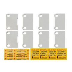 DA1399 - Four Door Bombproof Hinge Guards for Defender - Protect your Defender Doors from Theft