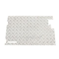 DA2067 - Rear Door Chequer Plate for Land Rover Series in Natural Aluminium - No Wiper