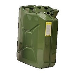 Genuine Gates Green Steel Jerry Can - 20 Litre - Top Quality Jerry Can with UN Certificate - TUV Approved