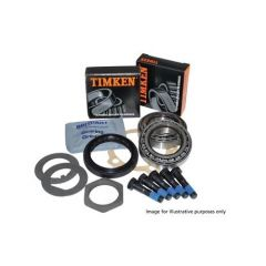 DA2380G - OEM Rear Wheel Bearing Kit for Defender up to KA Chassis Number - Timken Wheel Bearings, Flange Gasket, Corteco Hub Seals, Hub Cap and Lock Tabs