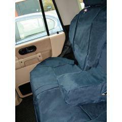 DA2801BLUE - Discovery 2 Rear Seat Covers In Blue - Washable, Waterproof and Well-Fitted