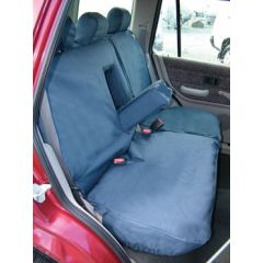 DA2814BLUE - Rear Freelander 1 Seat Covers (60/40 Split With Armrest) In Blue - Fully Washable, Waterproof and Well-Fitted