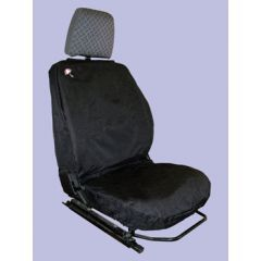 DA2815BLACK - Defender Front Seat Covers Up to 2007 - Comes as a Set of Three in Black - Waterproof and Machine Washable