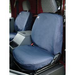DA2815BLUE - Defender Front Seat Covers Up to 2007 - Comes as a Set of Three in Blue - Waterproof and Machine Washable