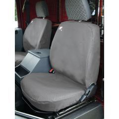 DA2815GREY - Defender Front Seat Covers Up to 2007 - Comes as a Set of Three in Black - Waterproof and Machine Washable