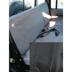 DA2828BLACK - Defender Rear Seat Covers Black - 2007 Onwards - 60/40 Split for Second Row Seats