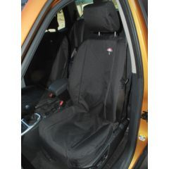 DA2830BLACK - Rear Seat Covers In Black for Range Rover L322 02-09 (Picture shows similar item fitted to Front of Freelander 2)