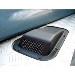 GAL177 - Ram Air Intake Cover in Plastic With Mesh Grill L/H - For Defender