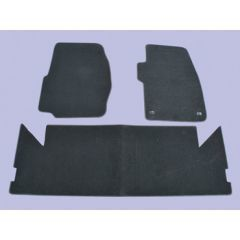 DA4023BLACK - Discovery 1 Front And Rear Carpet Set, With Rubber Backing In Black - By Britpart