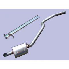 DA4223S - Stainless Steel Discovery 1 - Silencer Replacement Pipe  300TDI And Rear Silencer