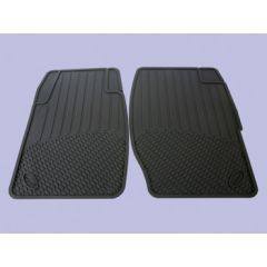 DA4426 - Discovery 1 Rubber Footwell Mat Set - Front In Black - By Autograph