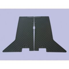 DA4427 - Discovery 1 Rubber Footwell Mat Set - Rear In Black - By Autograph