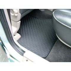 DA4429 - Freelander 1 Rubber Footwell Mat Set - Rear In Black - By Autograph