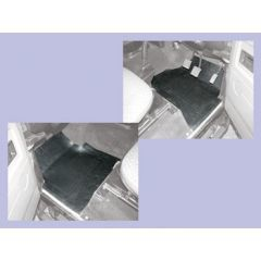 DA4502 - Rubber Footwell Mat Set for Defender - Front In Black - By Autograph (FOR VEHICLES FROM 1984-2007)