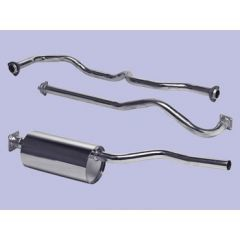DA4528 - Series 3 Land Rover Stainless Steel Exhaust System - for SWB 2.25 Petrol