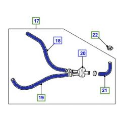 DA4574 - Silicone Expanion Tank Bleed Hose Kit by Britpart in Blue for Defender and Discovery 200TDi and 300TDi- Three Hose Kit
