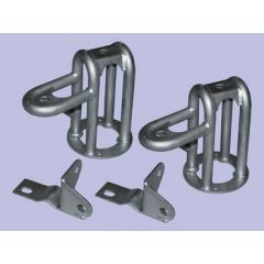 """DA6322L - Britpart Front Twin Shock Tubular Brackets - Plus 2"""" Lift - For Defender, Discovery 1 and Range Rover Classic"""