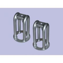 "DA6323L - Britpart Front Single Tubular Shock Brackets - Plus 2"" Lift - For Defender, Discovery 1 and Range Rover Classic"