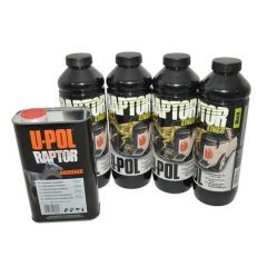 DA6382 - Raptor 4 Litre Kit in Black Finish - Durable Protective Coating for Almost Any Surface