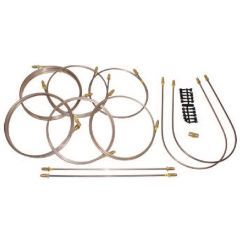 DA7406 - Series 2A LWB Complete Vehicle Brake Pipe Set - Right Hand Drive - 6-Cylinder with NO-Servo from 04/1969 Suffix G