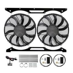 "DA8964 - Revotec Electrical Fan Conversion for Series 3 V8 - High Power Suction Fans - for V8 Petrol Vehicles (Twin 12"" Fan)"