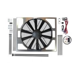 """DA8969 - Revotec Electrical Fan Conversion for Defender - High Power Suction Fan - Fits Puma 2.2 and 2.4 TDCi Defenders (15.2"""" Fan)"""