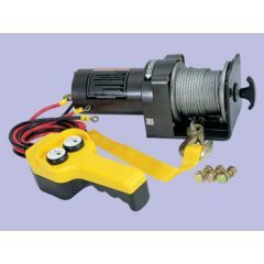 DB2000 - 12V 2,000Lbs - Britpart Pulling Power Winch - 1.0Kw Heavy Duty Electric Permanent Magnet Motor