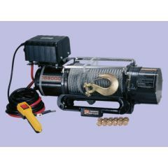 DB8000 - 12V 8,000Lbs - Britpart Pulling Power Winch - 3.0Kw Heavy Duty Electric Permanent Magnetetic Dc Motor